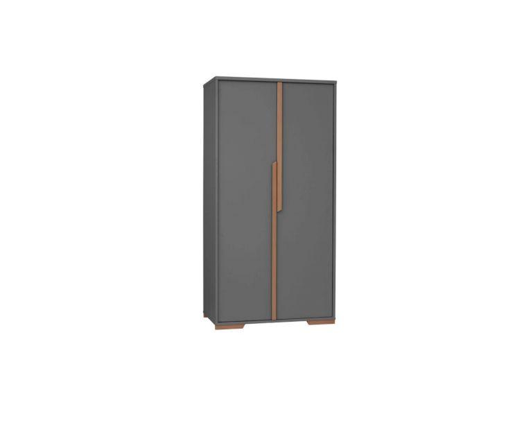 d82eb38ea1a Riidekapp Snap Dark Grey 2 door